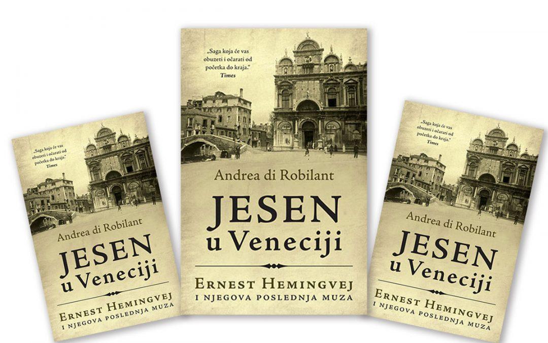 "Naslovna stranica knjige ""Jesen u Veneciji"", Andrea di Robilant. Izdavač Laguna."