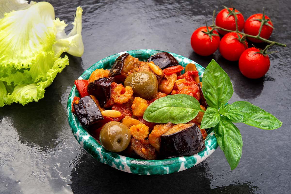 Kaponata – tradicionalna sicilijanska salata napravljena sa patlidžanima.