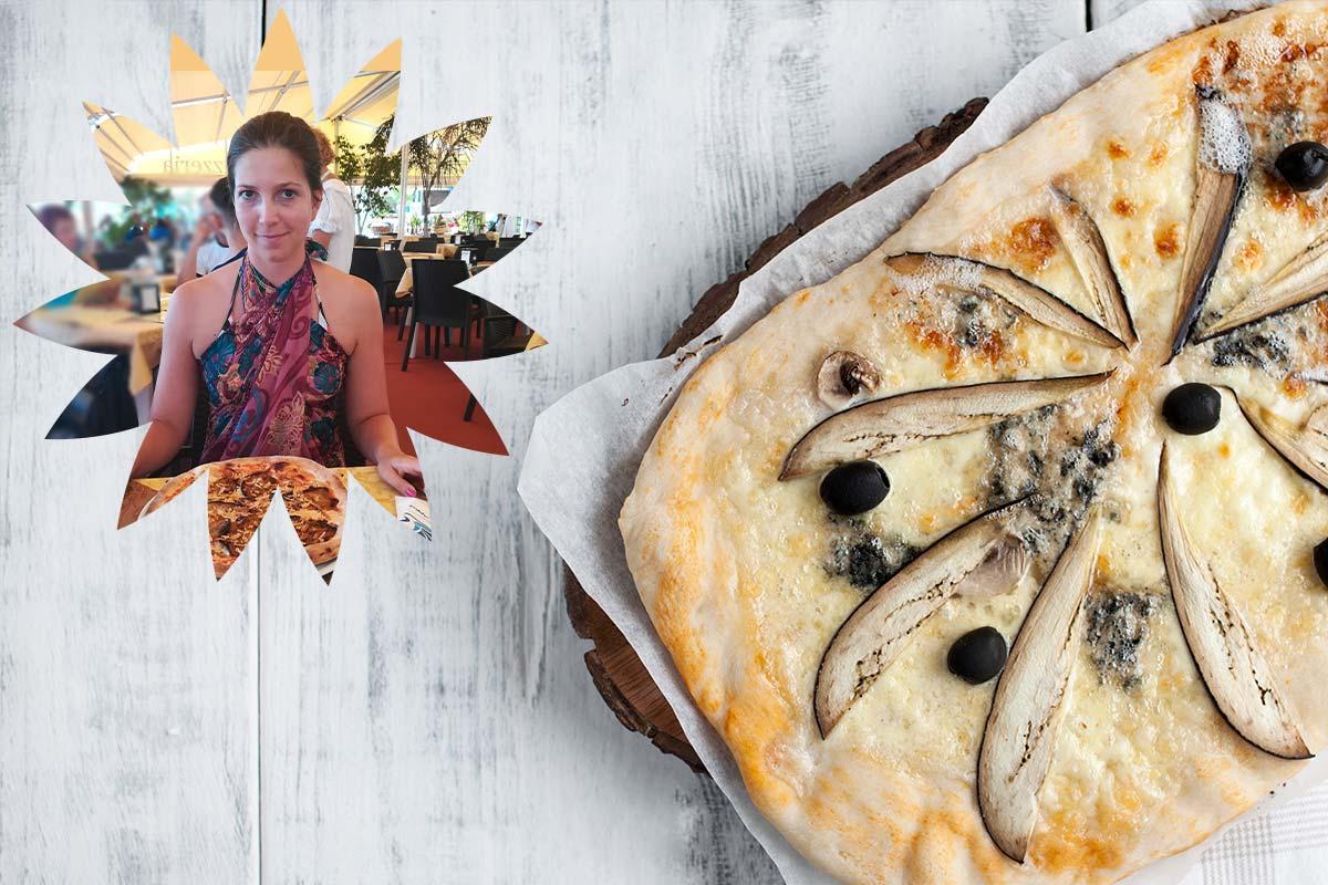 Pica sa bri sirom i patlidžanom.