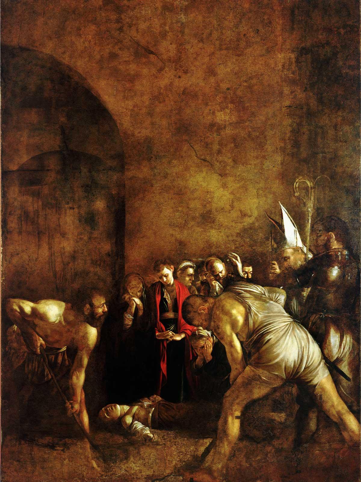 """""""Sahrana svete Lucije"""" u crkvi Santa Lucia al Sepolcro, autora Karavađa."""